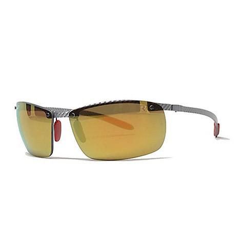 796f82320c 742-000- Ray-Ban Men s 64mm Rose-tone Ferrari Edition Sport Sunglasses