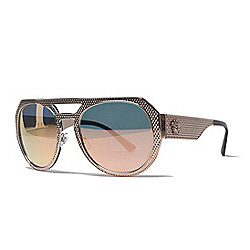 a2e4105cae5 Image of product 742-001. QUICKVIEW. ROSE GOLD. GOLD. prev. next. Versace  60mm Aviator Frame Sunglasses ...