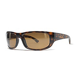 0c620c0a38 Ray-Ban Men s 64mm Faux Tortoiseshell Rectangular Frame Sunglasses w  Case