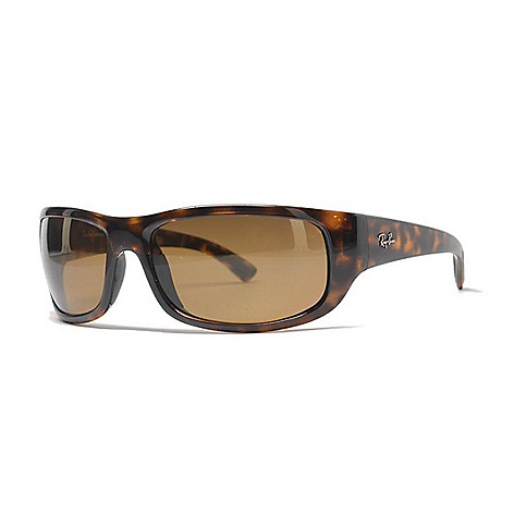 9c3f407dea8c 742-006- Ray-Ban Men's 64mm Faux Tortoiseshell Rectangular Frame Sunglasses  w/