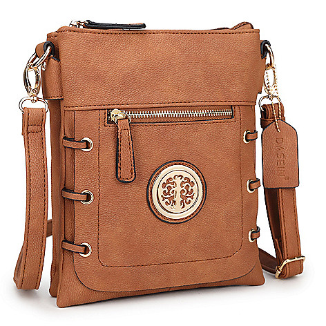 742-067- Dasein Faux Leather Logo Detailed Crossbody Bag f08519112429e