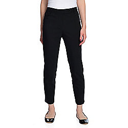 850aac5b1657 Karl Lagerfeld Woven 3-Pocket Zipper   Snap Detailed Ankle-Length Pants