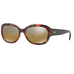 1147c4e94261 Ray-Ban 55mm Chromance Havana Rectangular Frame Polarized Sunglasses w/ Case