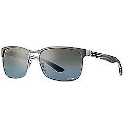 33ceaebf822 Ray-Ban Unisex 60mm Chromance Gunmetal   Blue Rectangular Frame Polarized  Sunglasses w  Case