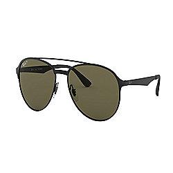 07f25b7a7dcc Ray-Ban Unisex 56mm Black Double-Bridge Round Frame Polarized Sunglasses w/  Case