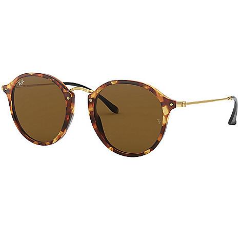0dd25b5fc3 743-148- Ray-Ban Unisex 49mm Havana Round Frame Sunglasses w  Case