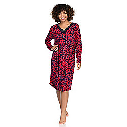 Everyday Koze by Harve Benard Printed Knit Long Sleeve Nightgown