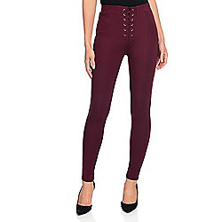 Pants & Jackets - 743-331 Marc Bouwer Stretch Knit Elastic Waist Lace-up Detailed Pull-on Leggings - 743-331