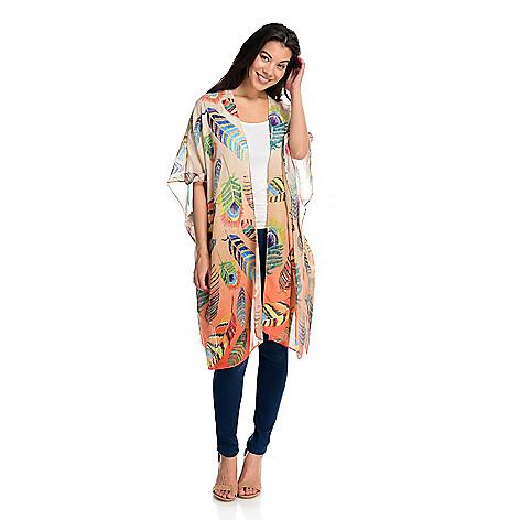 f9578b95da 743-353- JC Sunny Printed Woven 100% Cotton Kimono