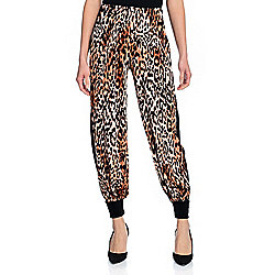 Marc Bouwer Printed Velvet Elastic Waist Side Stripe Jogger Pants