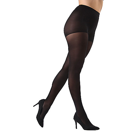 37dc7e02c6f0d 743-371- MeMoi Opaque Black Control Top Tights