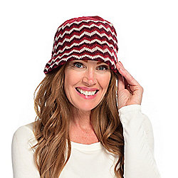 Harve Benard Zig Zag Knit Bucket Hat