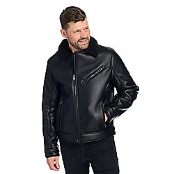 "Marc New York Men's ""Maxton"" Faux Leather 3-Pocket Moto Jacket"
