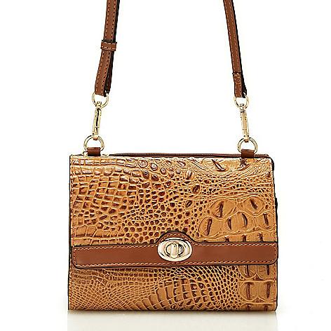 Madi Claire Melba Croco Embossed Leather Mini Crossbody Bag W