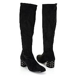 744-157 Rapisardi by Ron White Odanelis Stretch Faux Suede Knee-High Boots - 744-157