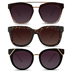 ef64eecf49326 Velvet Eyewear Set of 3 Oversized Frame Sunglasses
