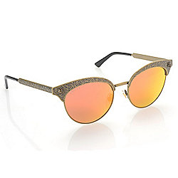 d7c01a3457ac Gucci 52mm Engraved Frame Mirrored Lens Sunglasses w/ Case