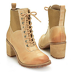 Boot Blowout 744-287 Matisse Moss Smooth Leather Lace-up Combat-Style Ankle Boots - 744-287