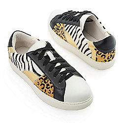 "Matisse ""Zoe"" Animal Printed Calf Hair Lace-up Sneakers"