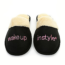 Wake Up in Style Faux Fur Lined Embroidered Slippers