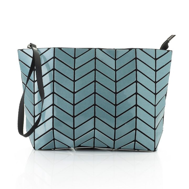 Handbag Flash Sale, Today Only Save up to 65% - 744-553 Patrizia Luca Geometric Detailed Zip Top Clutch w 2 Removable Straps