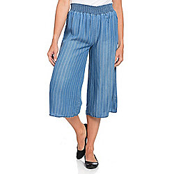 OSO Casuals® Woven Smocked Waist Pull-on Culottes