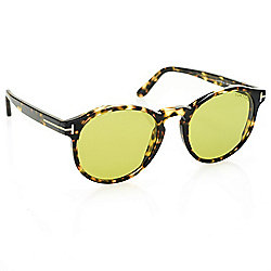 Tom Ford Unisex 51mm Havana Round Frame Sunglasses w/ Case