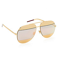 "Christian Dior ""Split 1"" 59mm Two-tone Aviator-Frame Sunglasses w/ Case"
