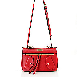 WD.NY Pebbled Zipper Detailed Flap-over Crossbody Bag
