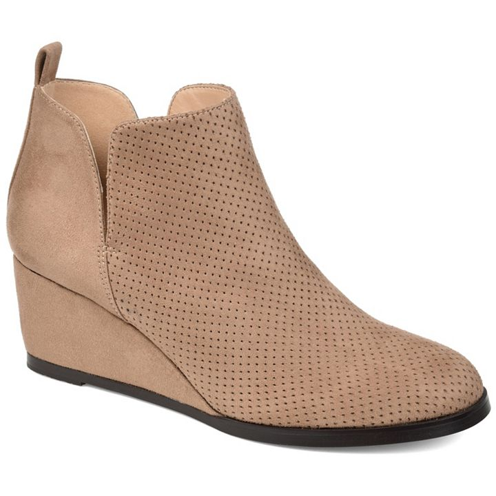 Flash Sale at ShopHQ | 745-325 Journee Collection Mylee Faux Suede Ankle Boots