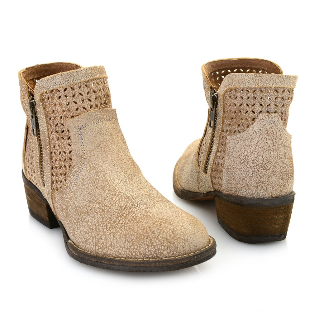 Corkys Bovina Distressed Leather Double Side Zip Ankle Boots - 40% Off - 745-519