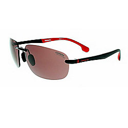 Carrera 57mm Black Red Designer Frameless Sunglasses w/ Case