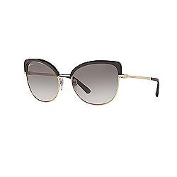 Bvlgari 58mm Pale Gold Cocoa Designer Sunglasses w/ Case