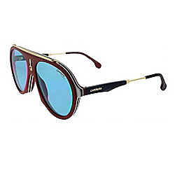 Carrera Flag 57mm Burgundy Gold Designer Sunglasses w/ Case