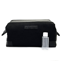 "Steve Madden Men's 9"" Nylon Travel Kit w/ 1 oz Bottle"