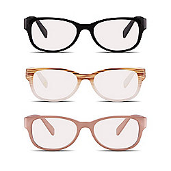 Velvet Eyewear Ivy Style Box Set of 3 50mm Reader Eyeglasses