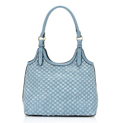 Madi Claire Handbags New Low Prices 748-560 Madi Claire Cecelia Two-Tone Woven Hobo Bag w Rolled Shoulder Strap
