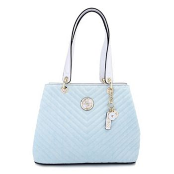 Guess Handbags - Premiere Iconic Style & Quality 748-887 Guess Kamryn Denim Shopper Tote w Keychain - 748-887