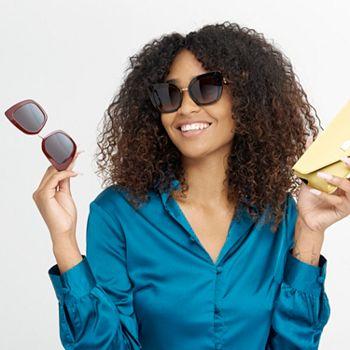 Sunglasses Under $100 Hot Summer Deals  748-910 Dolce & Gabbana Gradient Lens Square Frame Designer Sunglasses w Case - 748-910