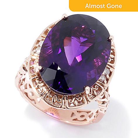 7767d196df0bd Gems en Vogue 14K Rose Gold 10.55ctw Ametista Do Sul Amethyst & Diamond Ring