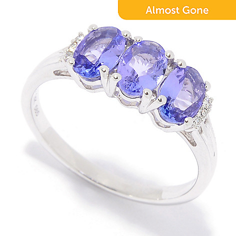 cluster diamond amp tanzanite rings ring and gemstone image