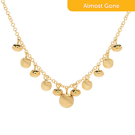 Viale18k italian gold 1775 drop bead fancy necklace 133 grams 167 364 viale18k italian gold 1775 drop bead fancy necklace 133 aloadofball Image collections