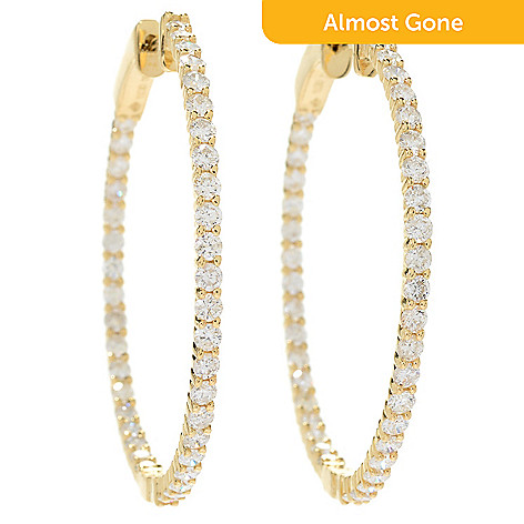 169 532 Prism 14k Gold Choice Of Carat Australian Diamond Inside Out Hoop