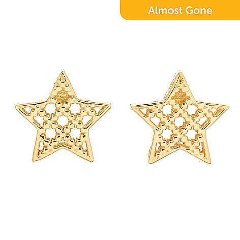 00ec17f4af5 169-776- Gucci 18K Gold Diamantissima Stella Stud Earrings