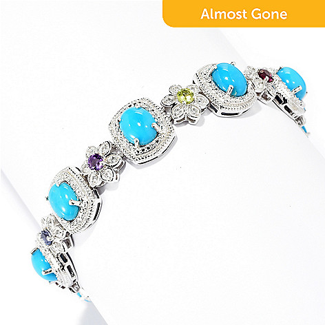 170 126 Gem Treasures Sterling Silver 7 5 Sleeping Beauty Turquoise Gemstone