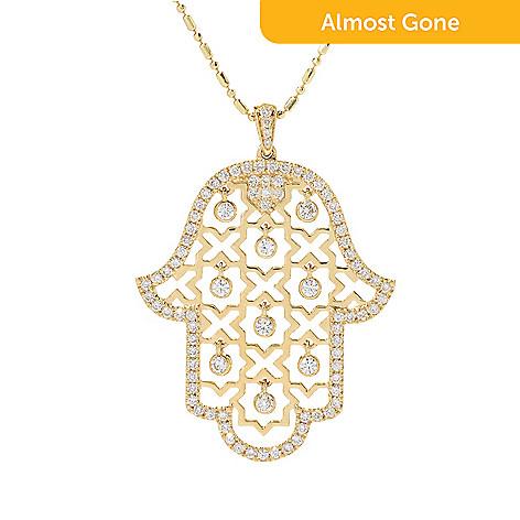 Beverly hills elegance 14k gold 086ctw diamond hamsa pendant w 18 170 221 beverly hills elegance 14k gold 086ctw diamond hamsa pendant w aloadofball Choice Image