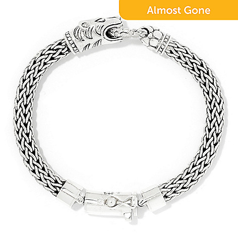 4d960cac81a 172-119- Artisan Silver by Samuel B. Tulang Naga Oxidized Animal Bracelet