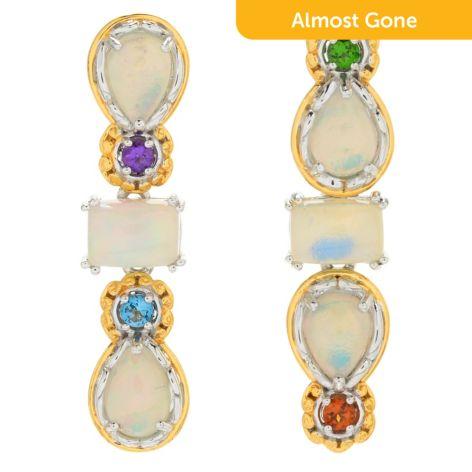 3d295987 five black opal drop earrings marissa collections