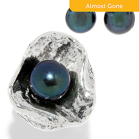 3b6cc34e9 175-390- Passage to Israel™ Sterling Silver 7.5-10mm Cultured Pearl Ring