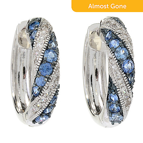 394ea7a38 176-175- Gem Treasures® Sterling Silver 2.00ctw Ceylon Blue Sapphire & Gem